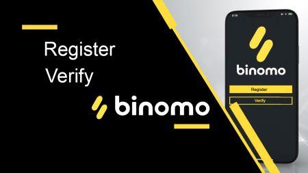 Cómo registrar y verificar una cuenta en Binomo